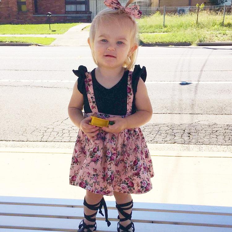 HTB1vrWWmY I8KJjy1Xaq6zsxpXaC - 1-4y Summer Children Clothing Floral Girl Skirt Cotton Cute Toddler Suspender Skirts for Baby Girls Clothing