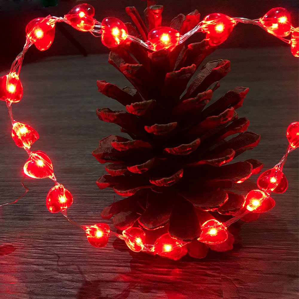Heart String Lights, LED Starry Lights For Bedroom, Patio, Party, Christmas  Tree, Decorations (100 LEDs, 33 Ft Copper Wire)
