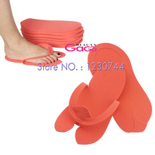 BNG 12pairs/lot Disposable Spa Pedicure Slippers Comfortable Convenient Nail Art Salon EVA Foam Material Flip Flop Foot(China)