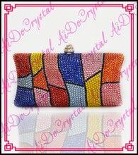 Aidocrystal bunte kristall kupplung taschen made in china damen party abend handtaschen