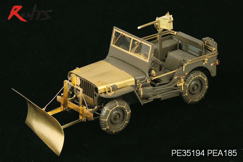 RealTS Voyager PEA185 1/35WWII U.S. Jeep Willys MB snow plow w/ tyre chains For TAMIYA willys jeep 1 10
