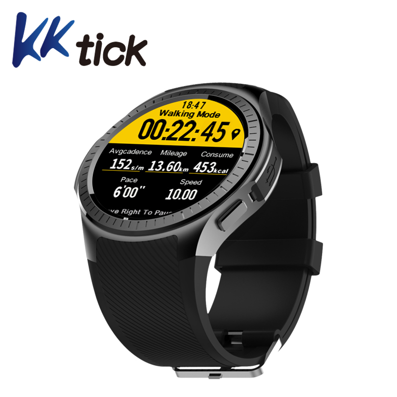 KKTICK L1 SmartWatch Phone 1.3 Inch Bluetooth GPS Heart Rate Measurement Pedometer Sleep Monitor Sport Smart Watch dm2018 smart watch android gps sports 4g smartwatch phone 1 54 inch bluetooth heart rate tracker monitor pedometer pk kw88 dm98