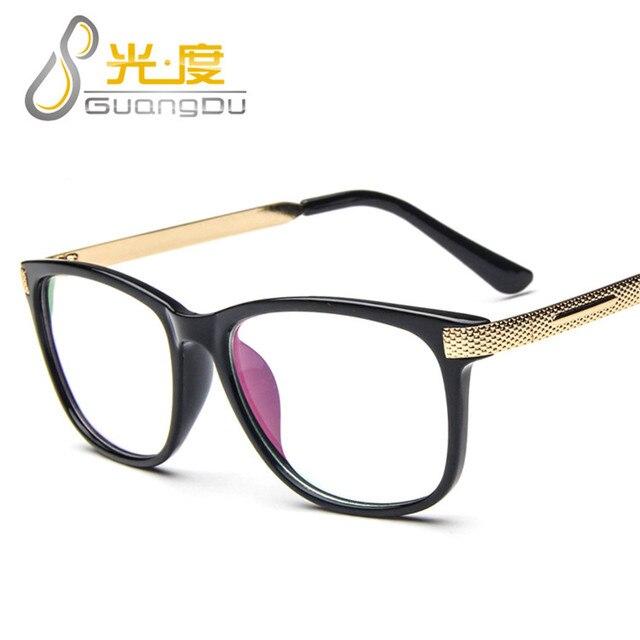 ec961a8edf5b GUANGDU 2017 Fashion Women Optical Metal Frame Men Vintage Round Eyeglass  Ladies Plain Glasses Myopia Frame Oculos de grau 2173