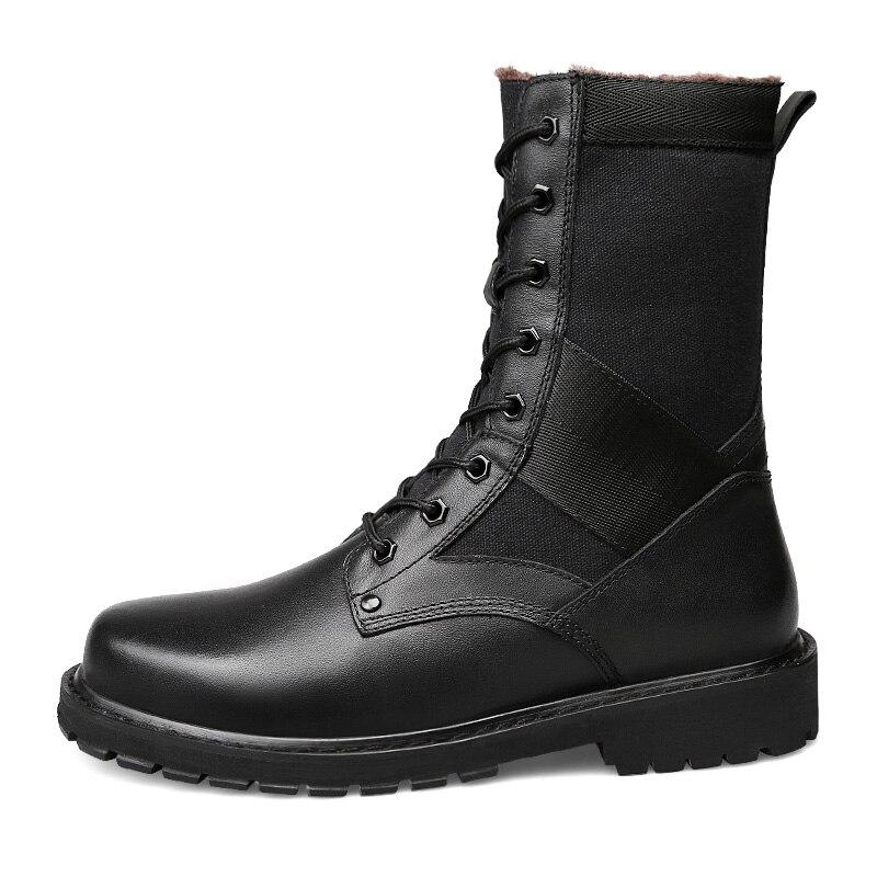 Chaud Chaussures Fur Véritable mollet No Mi Peluche Taille Pour Fur D'hiverPlus En With Nouvelle Black black Grande Fourrure Hommes De Courte Neige Bottes Cuir ynwONvm80