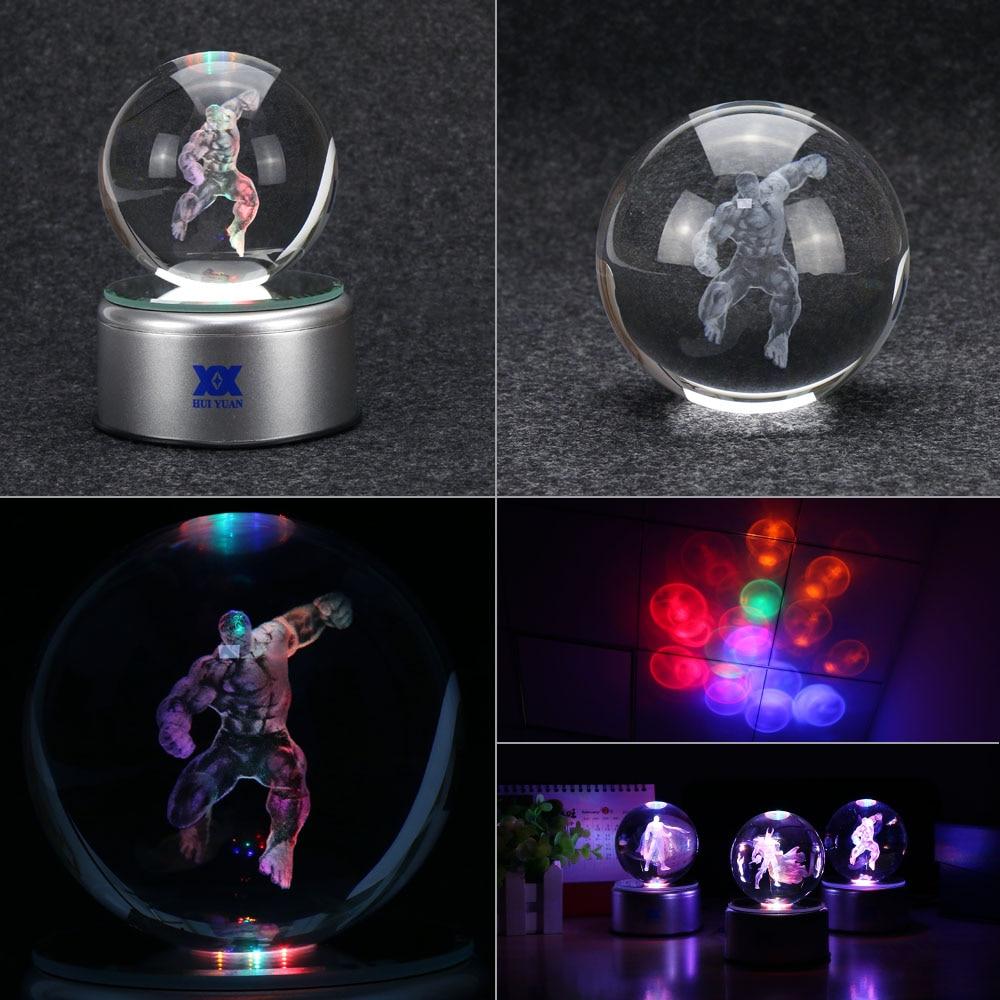 Avengers Hulk 3D Crystal Ball Lamp Desktop Decoration Glass Ball - Night Lights - Photo 4