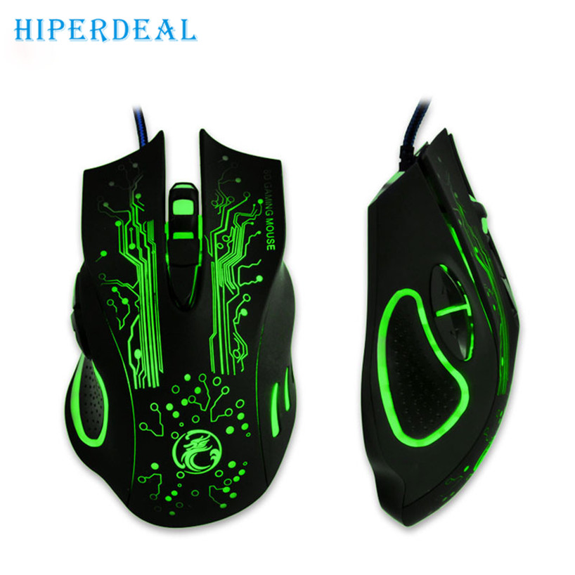 HIPERDEAL 2017 Hot 2400DPI LED Optical 6D USB Wired Gaming Game Mouse For PC Laptop Game Free shiping  Sep 19