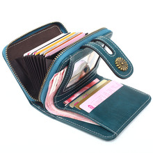2019 Zipper Ladies Purses Leather Women Wallets Hasp Coin Pocket Card Holder Mini Small Luxury Woman Purse Trifold Female Wallet