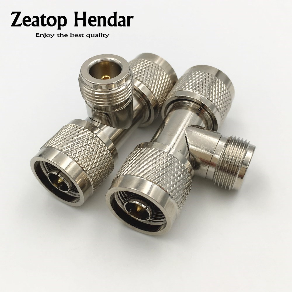 Adapter N male TYPE plug to 2 x N female jack RF Splitter T Type connector USA