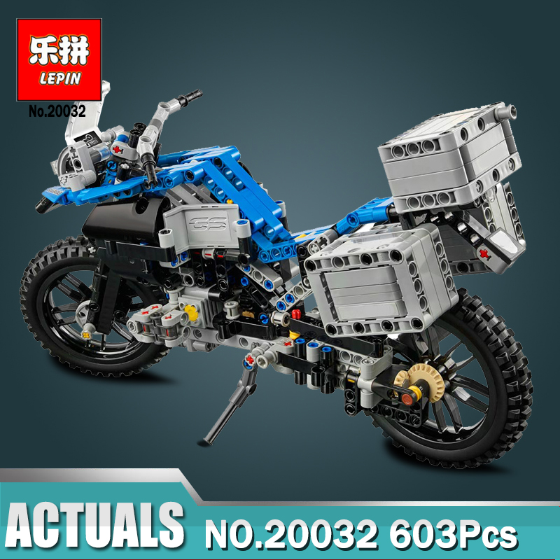 Lepin 20032 603pcsTechnic Series The B.M.W Off-road Motorcycles Building Blocks Bricks Educational Toys Compatible legoed 42063 lepin 22001 pirate ship imperial warships model building block briks toys gift 1717pcs compatible legoed 10210