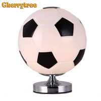 Table bedroom lamp bedside home deco football lamp for living room modern bed basketball deco table nightstand Children gift