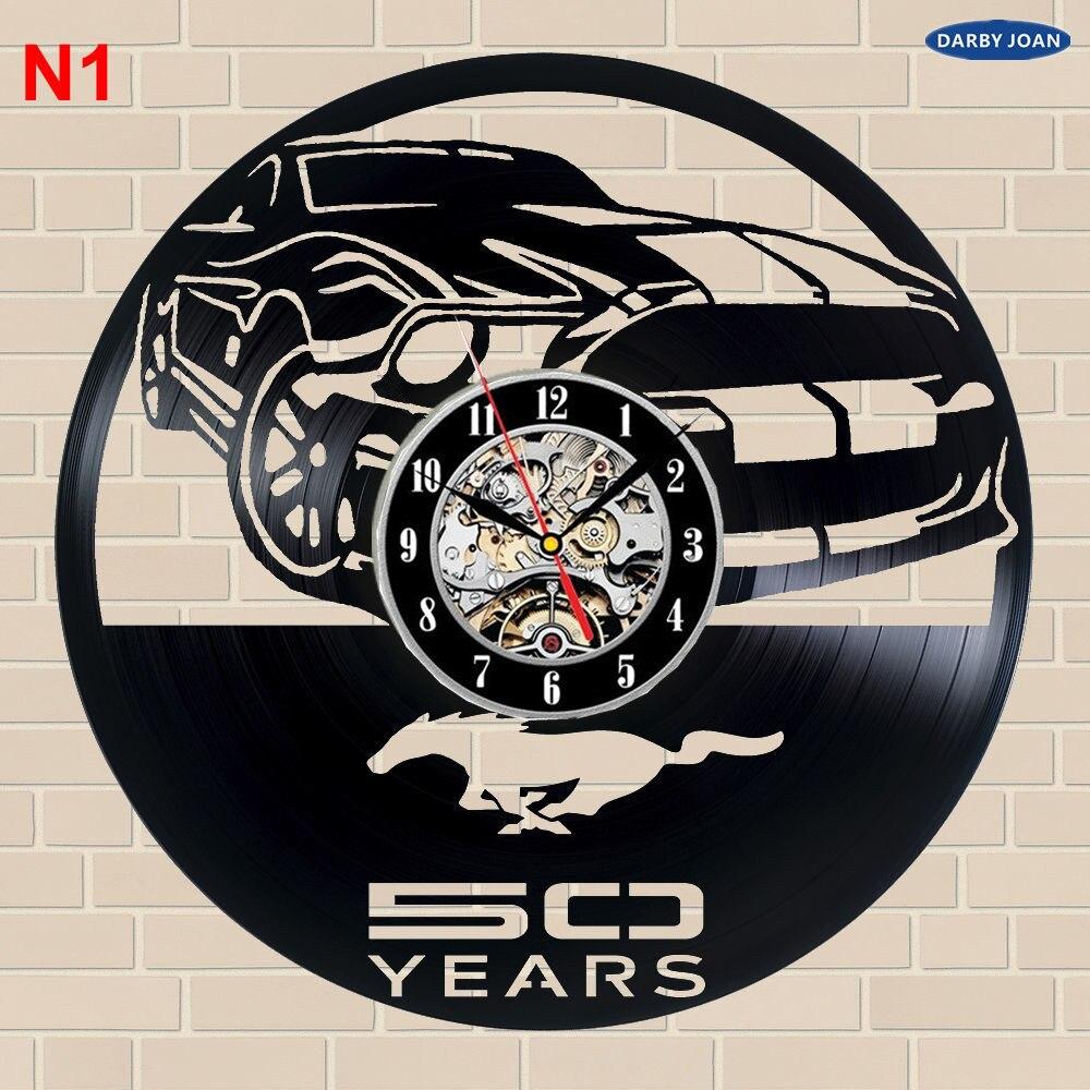 Ford Mustang hecho a mano Reloj de pared del registro del vinilo ...
