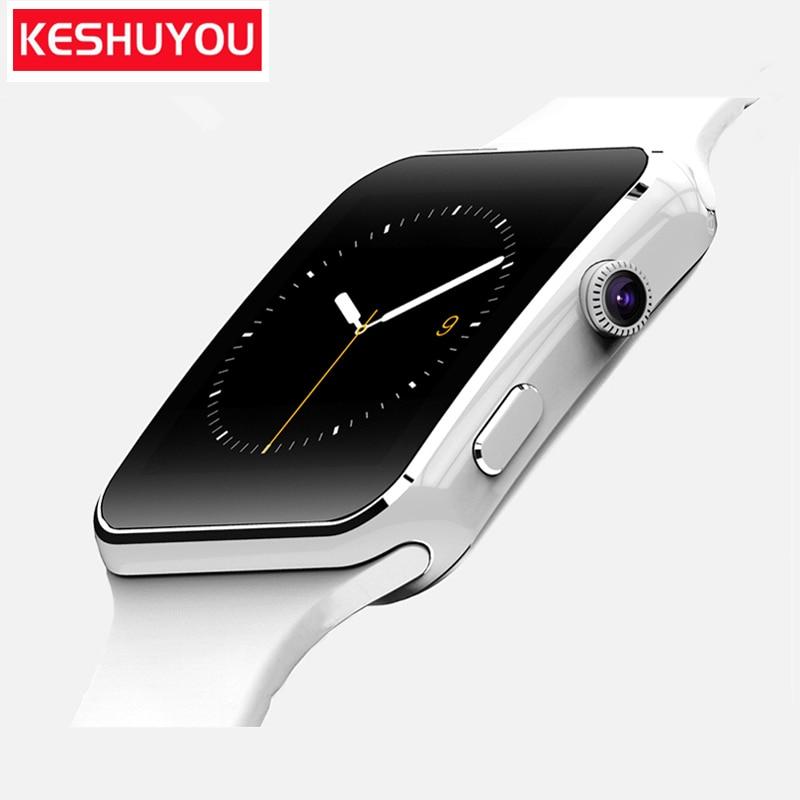 215e065029d X16 KESHUYOU telefone Relógio De Pulso Relógio Inteligente Pedômetro  Esporte com Câmera cartão SIM Smartwatch Para Android Smartphones Rússia  T15d