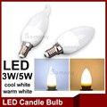 Lâmpada Led Vela E14 220 V Energia Salvando Spotlight Chandlier Leitoso lâmpada Decoração Velas Ampola Bombillas 3 W 5 W Luz LEVOU Para Casa lâmpadas