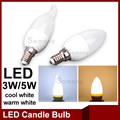 Led Candle Bulb E14 220V Energy Saving Spotlight Chandlier Milky Lamp Decor Velas Ampoule Bombillas 3W 5W Home Light LED Bulbs