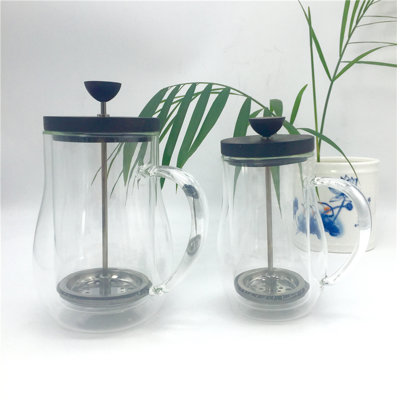 350ml 600ml French press pot / glass insulation cup coffee tea french presses percolators coffee maker Metal filter press pot