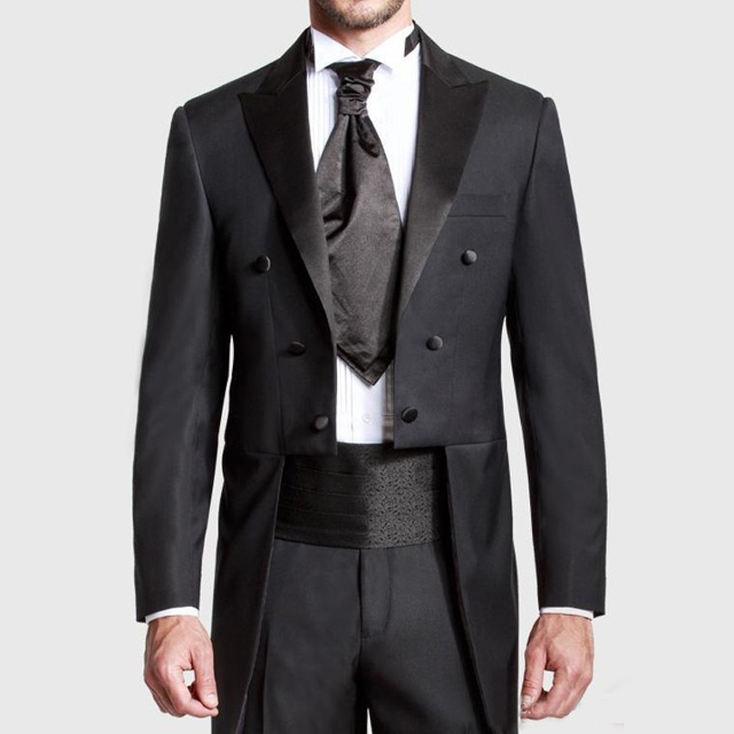 Black suit coat with tails