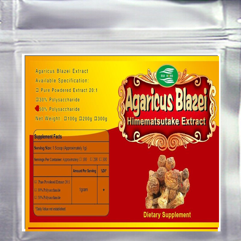 500gram 10.56oz Agaricus Blazei Extract 50% Polysaccharide Powder free shipping 1pack 100% natural pleurotus ferulae extract powder 30% polysaccharide 500mb x 300caps enhance the bodys immune