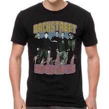 Authentic BACKSTREET BOYS Vintage Destroyed Slim-Fit T-Shirt New Brand-Clothing T Shirts top tee цена и фото