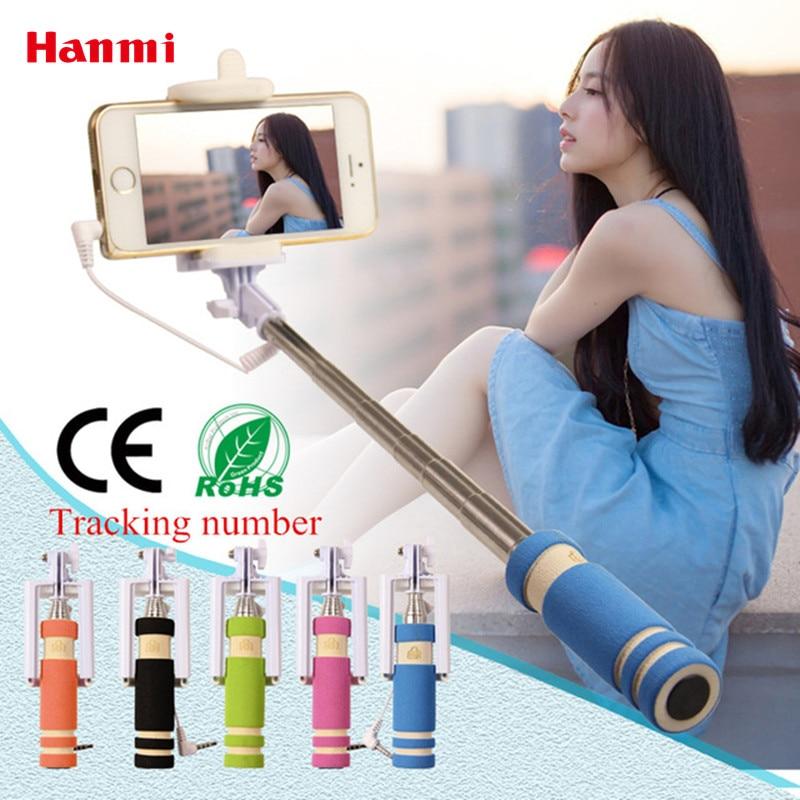 Super Mini Selfie Stick Verdrahtet Faltbare Stativ Einbeinstativ Erweiterbar Selbstporträt Stick Halter Für iPhone Samsung Smartphone Selfie