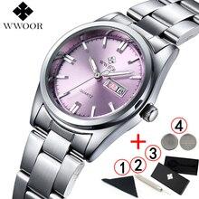 Vrouwen Horloges 2019 luxe Merk WWOOR Mode quartz Business Vrouwen Horloge klok jurk dames polshorloge montre femme 2018