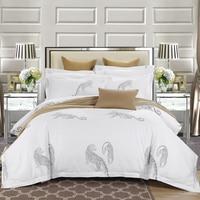 Papa Mima Leopard Printed Queen Size Duvet Cover Set Soft 100 Cotton Fabric Bedlinens Flat Sheet