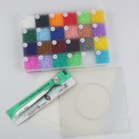 Perler Beads 2 6mm 24 Colors 12 000 Pcs With Storage Box And Pegboard DIY Gift