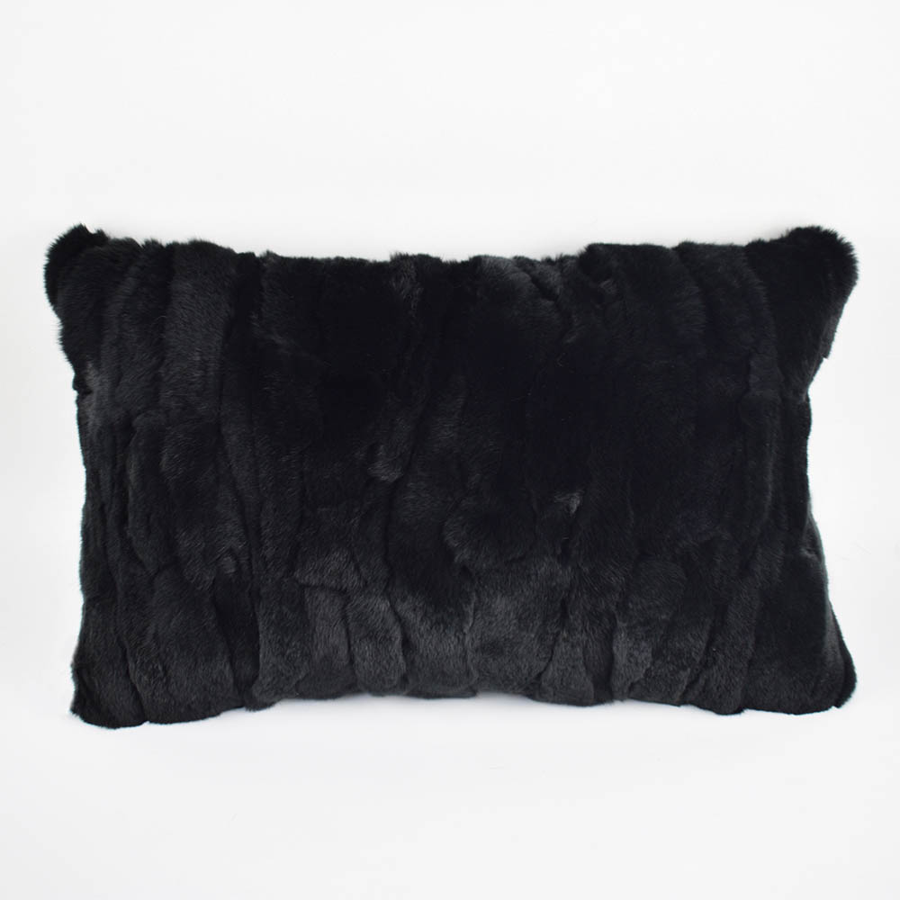 rex rabbit fur pillow 9