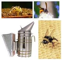 Bền Nuôi Ong Hút Thuốc Thép Không Gỉ Bee Hive Hút Thuốc Nhỏ Mạ Kẽm với Nhiệt Tàu Lá Chắn Thiết Bị Nghề Nuôi Ong công c