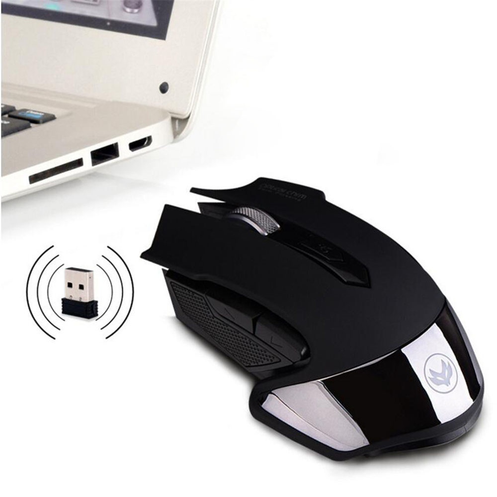 2.4Ghz Wireless Mouse Rechargeable Mouse 1600DPI Optical Gaming Mice Black White for ASU ...