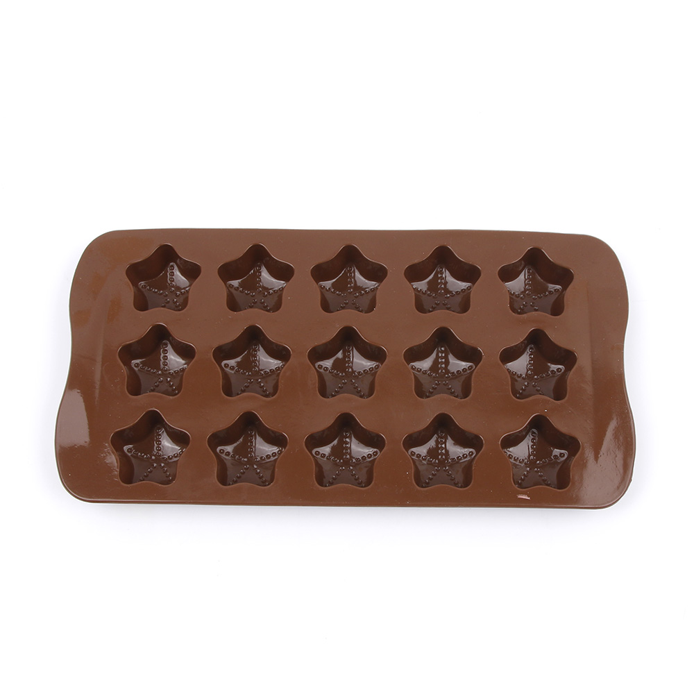 Silicone Ice Cube moulds 15 lattices DIY chocolate star shape silicone molds Fondant Cake Decorating Tools