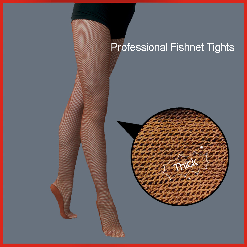 Women's Professional Fishnet Tights For Ballroom Latin Dance