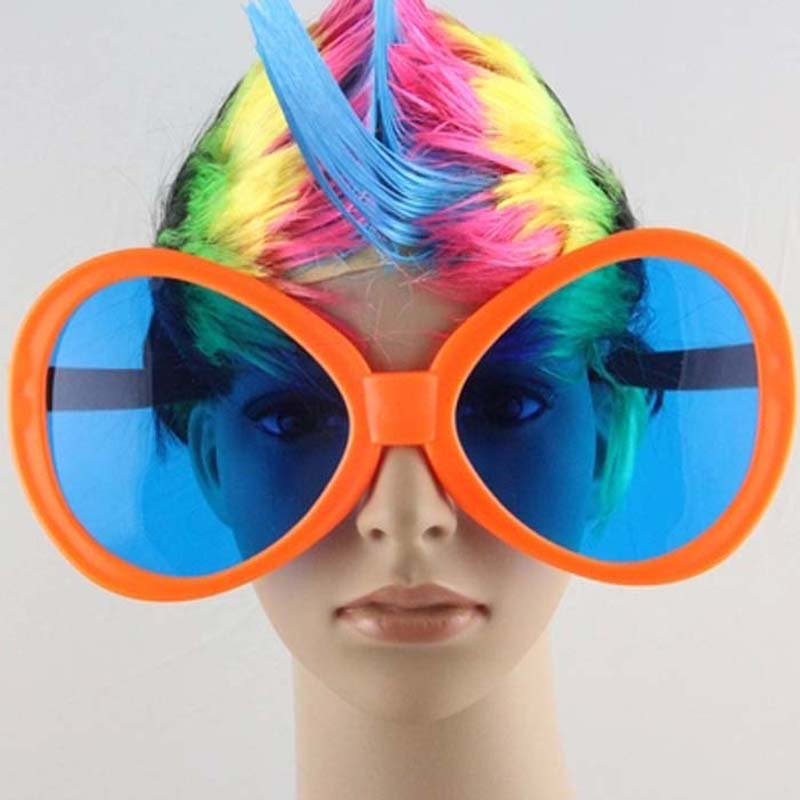 Colorful Fun Big Clown Glasses Children Adults Fancy Dress Rave Eye Glasses Tricky Toys Party Favor