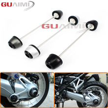 For BMW R1200GS LC 2013-2017 R1200 GS LC Adventure 2014-2017 Front Metal Axle Fork Wheel Protector Crash Sliders Cap Pad