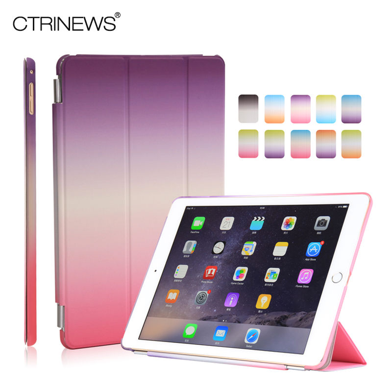 CTRINEWS Smart Cover Case for Apple iPad mini 4 Rainbow Magnetic PU Leather for iPad Mini 4 Case Fashion Slim Flip Stand Cover nice cover for apple new 2017 ipad air 1 case slim thin flip soft tpu silicone protect magnetic smart pu leather case cover