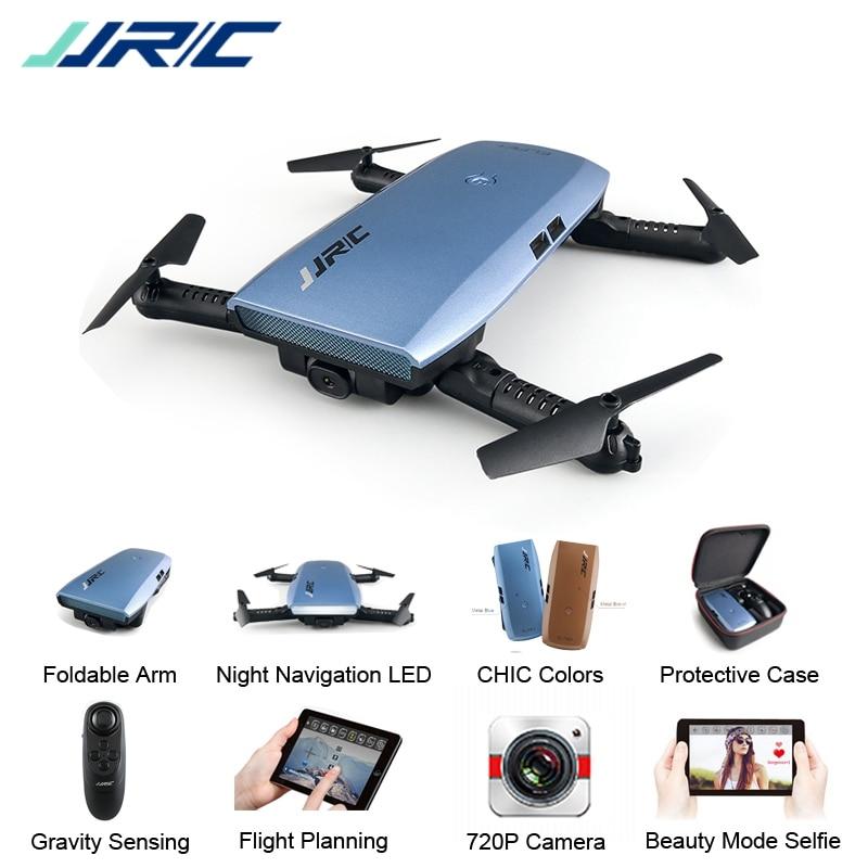 JJRC H47 ELFIE Plus Selfie Drone พร้อมกล้อง HD 720P แบบพับได้ RC Selfie Drone Controller Quadcopter VS H37 dron-ใน เฮลิคอปเตอร์ RC จาก ของเล่นและงานอดิเรก บน   1