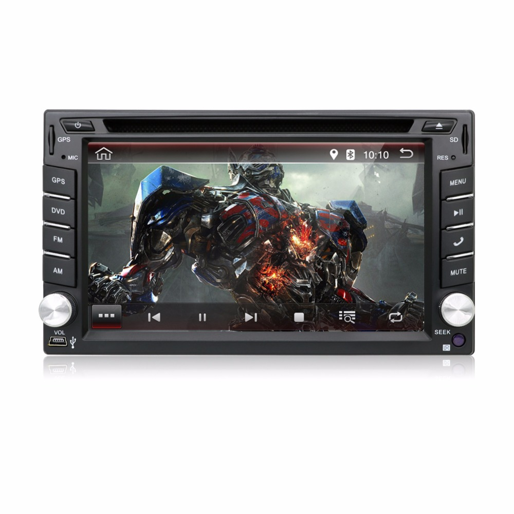 """KLYDE 2 Din 6.2"""" Universal Android 8.1 8 core Android 7.1 quad core Car Radio Capacitive multi-touch screen Car DVD Player"""