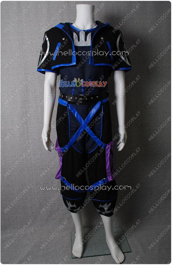 Kingdom Hearts II Косплэй анти Сора костюм H008