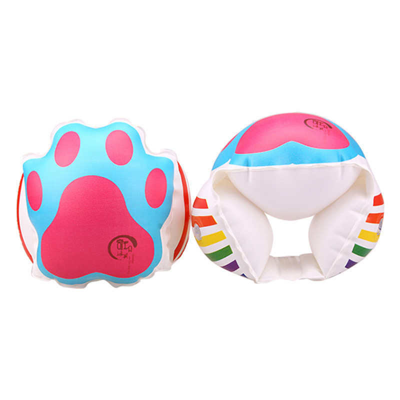 1 Pair Child Kids Protable Inflatable Aid Bands Arm Swimming Pool Float Ring Girls Boys Swimming Learn