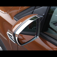 цена на For Ford Kuga Escape 2013-2017 ABS Chrome Car rearview mirror block rain eyebrow Cover Trim sticker Car styling Accessories 2pcs