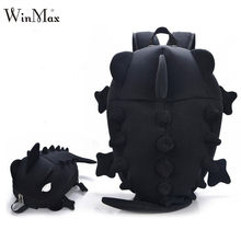 Factory Outlet 2018 Creative Kids 3D Animal Backpack Dinosaur Shape Children Primary Cartoon School Bags Teenager Book Schoolbag(China)