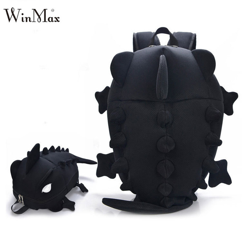 Factory Outlet Kids New Creative Women Men 3D Animal Backpack Dinosaur Shape Primary Cartoon School Bags Teenager Book Schoolbag