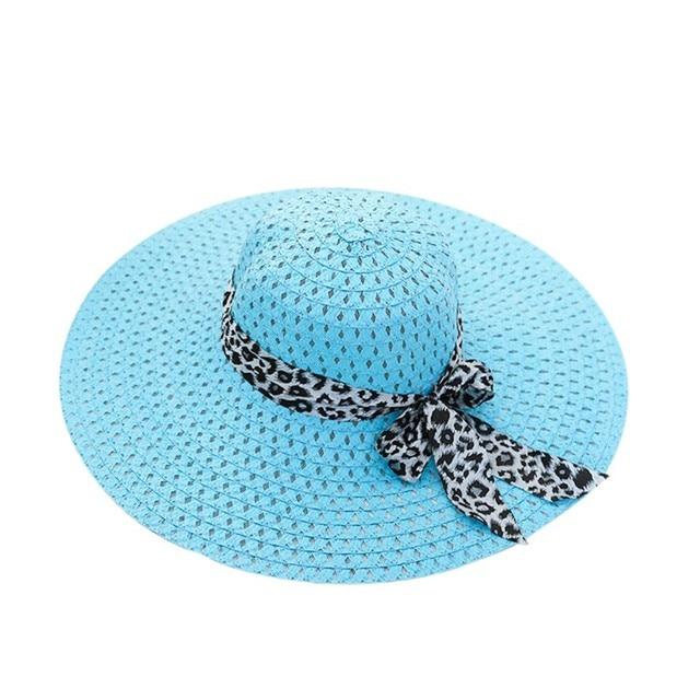 9f4723e2602 Travel Beach Women Straw Hat Summer Sunhats Bowtie Wide Brim Floppy Hat  Fashionable Ladies Girls Sun Hats for Women 4 Colors