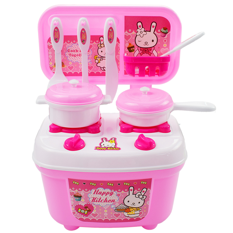 17 Pcs/Lot Pink Children Play House Kitchen Cook Cooking Toys Boys And Girls Utensils Ch ...