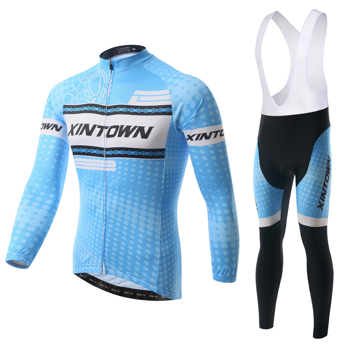 XINTOWN BIB Sets Winter Thermal Fleece Ale Cycling Jersey Set Men Mtb Bike Clothes Long Sleeve Bicycle Cycling Clothing xintown new 2018 spring cycling jersey set long sleeve 3d gel padded sets bike clothing mtb protective wear cycling clothes sets