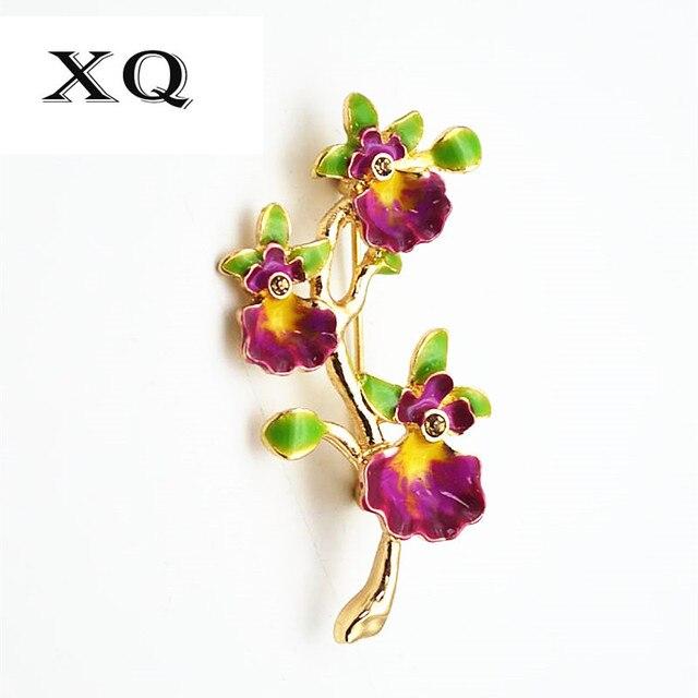 Miễn phí vận chuyển thời trang nữ trang sức hoa tinh tế hình dạng mô hình cô gái trâm mạ enamel craft thanh lịch brooch pins phụ nữ