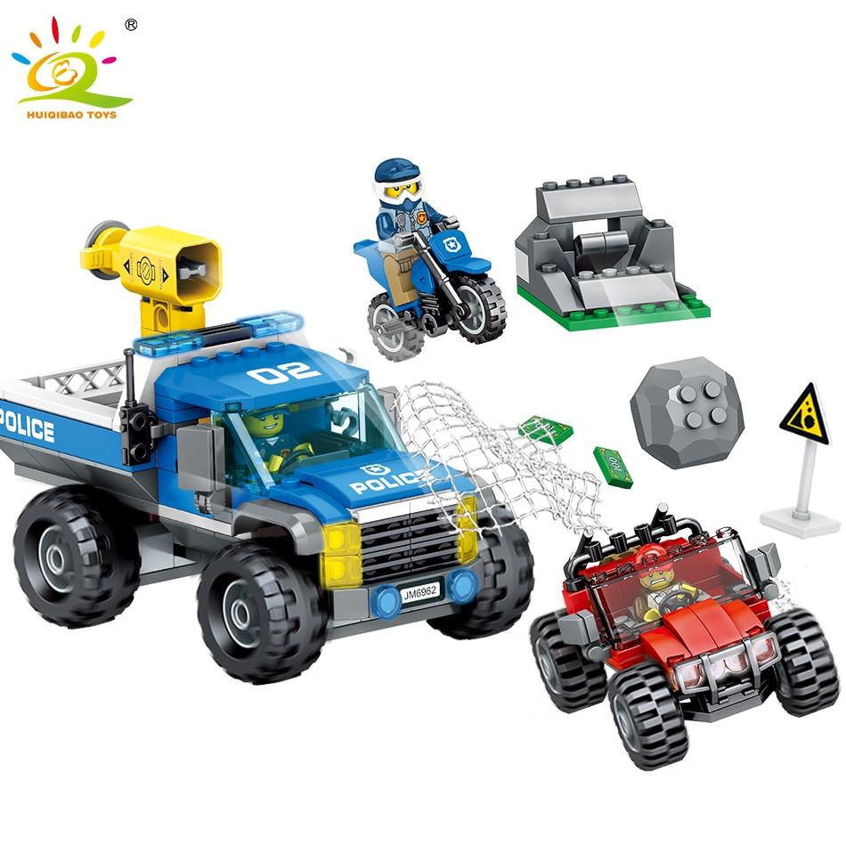 Figura Serie La Camión Diy Moto Compatible Legoed Juguetes Ciudad Vehículo Policía De Coche Bloques Construcción Patrulla Todoterreno n0OwPk