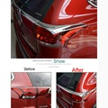 4 Pcs per set DIY Car Styling ABS Chrome the rear headlight eyebrow sticker Cover Case stickers for Mitsubishi Outlander 2016