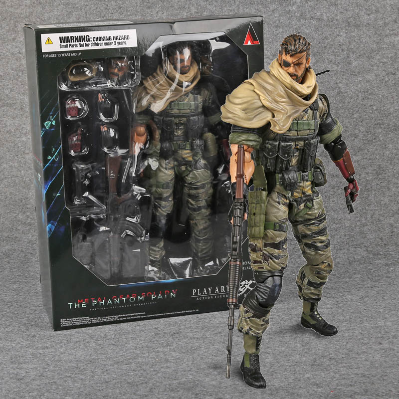 PlayArts KAI Metal Gear Solid V The Phantom Venom Snake PVC Action Figure Collectible Model Toy 27cm metal gear solid action figure playarts kai the phantom pain quiet venom snake model toy play arts kai snake figure playart pa04