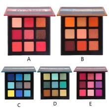 Beauty Glazed Matte Eyeshadow Palette 9 Colors Long Lasting Diamond Glitter Pigments Eye Makeup Powder Nude Cosmetics