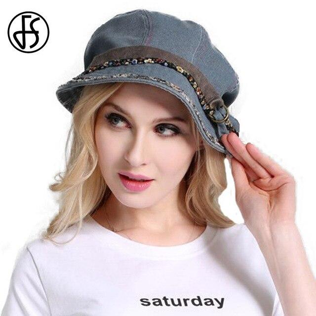FS Vintage Women Summer Foldable Sun Hat Gray Black Water Wash Old Cloth  Cap Cotton Outdoor Wide Brim Uv Protect Hats With Belt d607d2c9e58